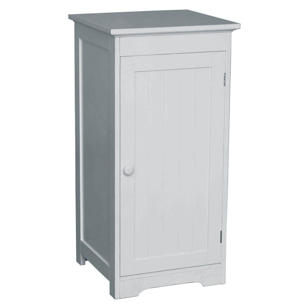 White Wood Cabinet 1 Inner Shelf H80 X W40 X D38cm 56 99 Buy