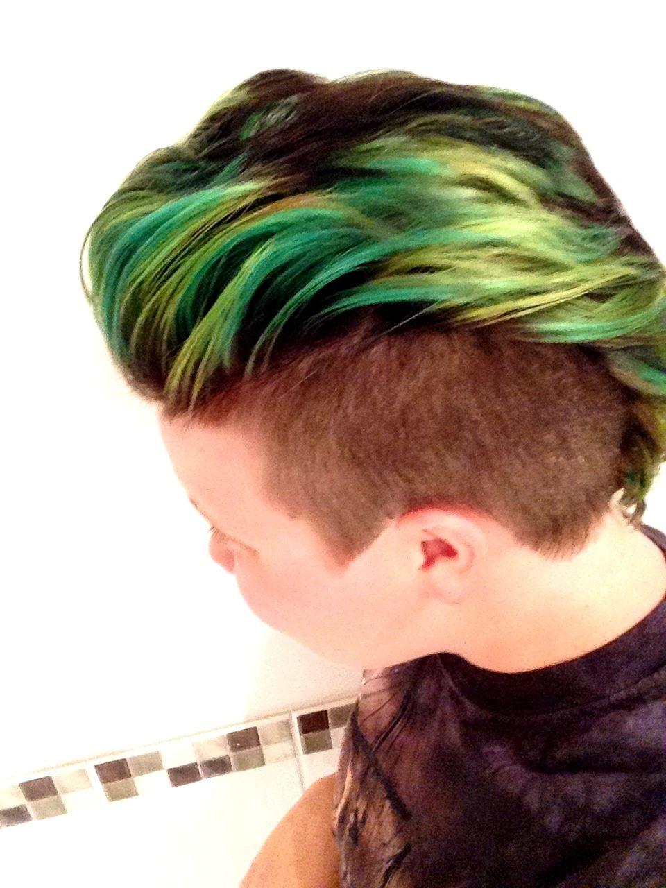 green hair jan-april '15