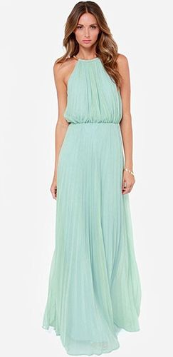 Green Scoop Neck Dress