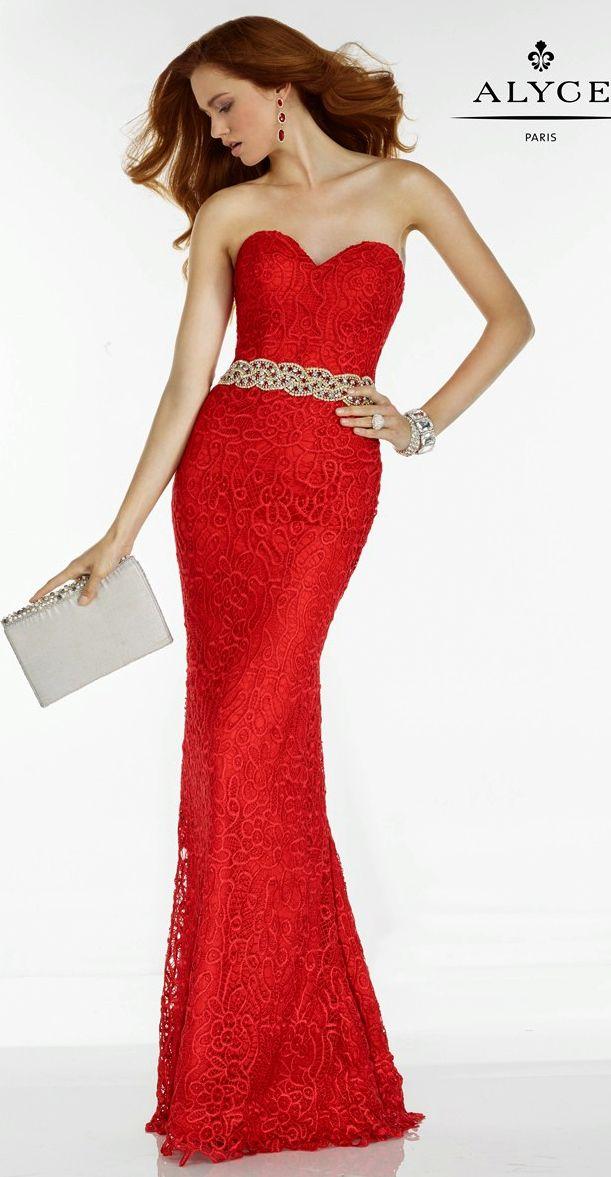 Prom Dresses Evening Dresses by Alyce Paris<BR>6593<BR>Full length