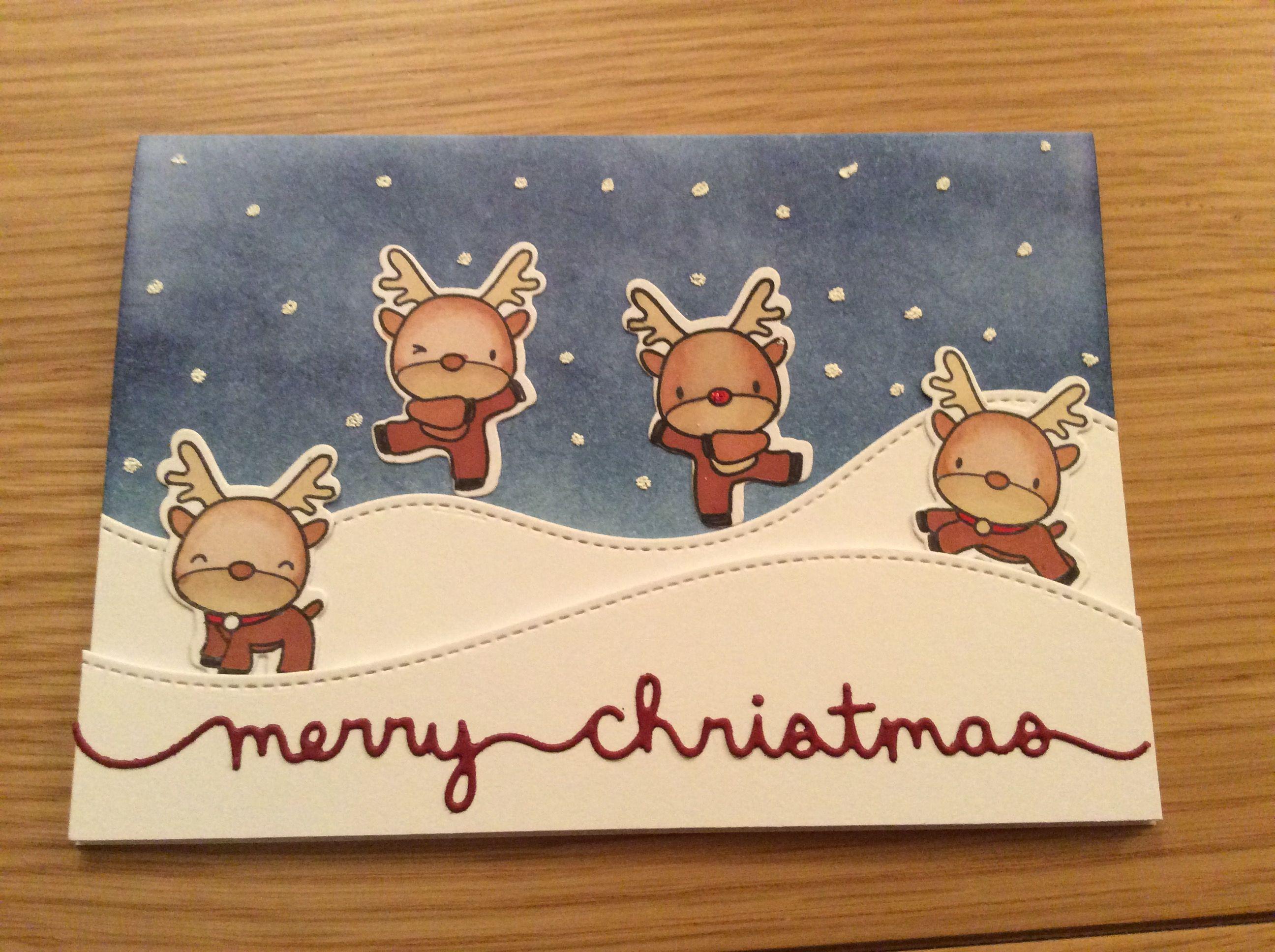 mama elephant reindeer games christmas card  mama