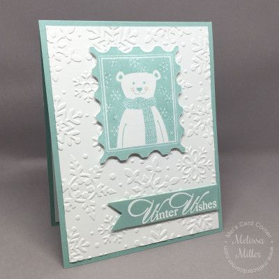 Mel's Card Corner | Winter Wishes - CTMH - Christmas Bear