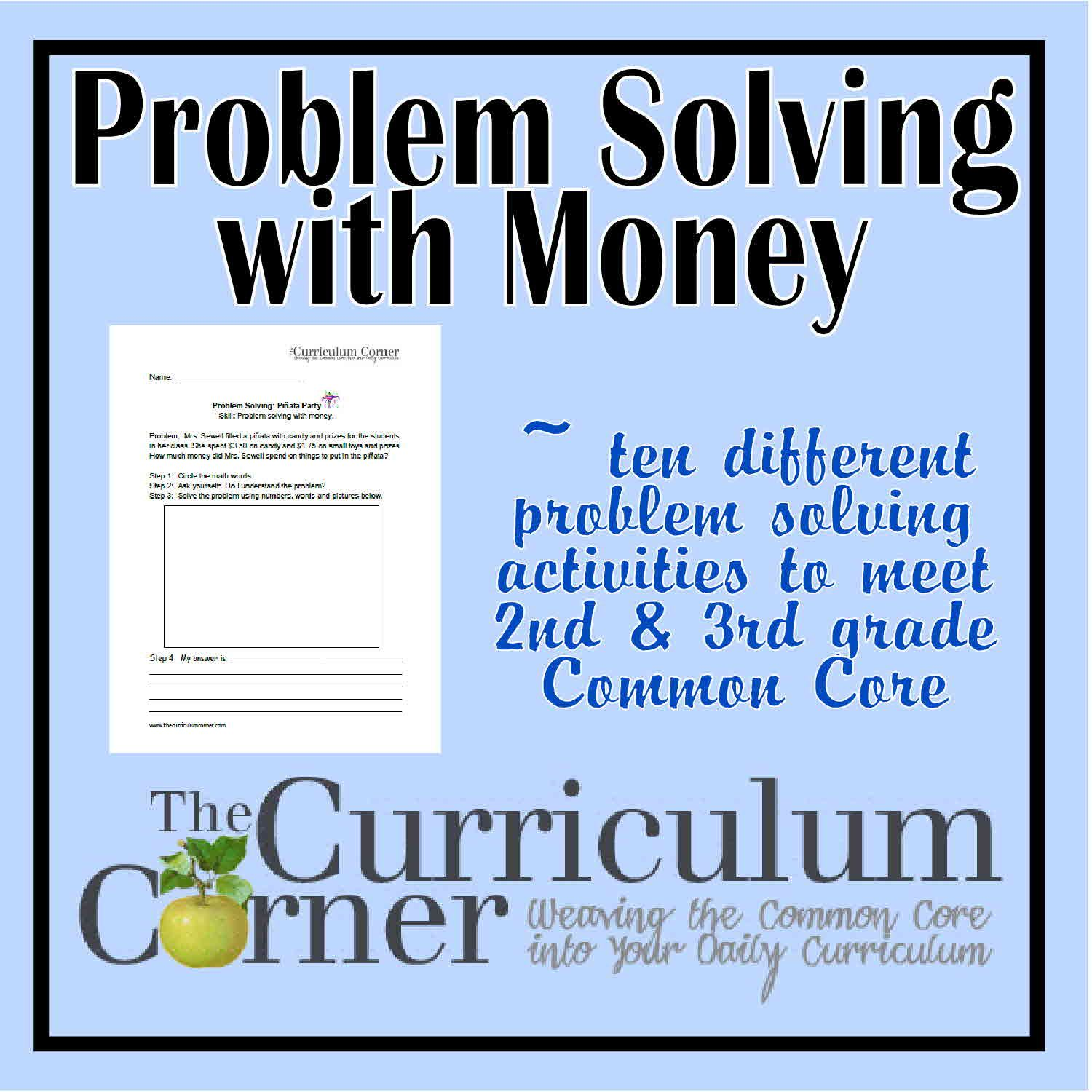 Problem Solving with Money | Word problems, Curriculum and Corner