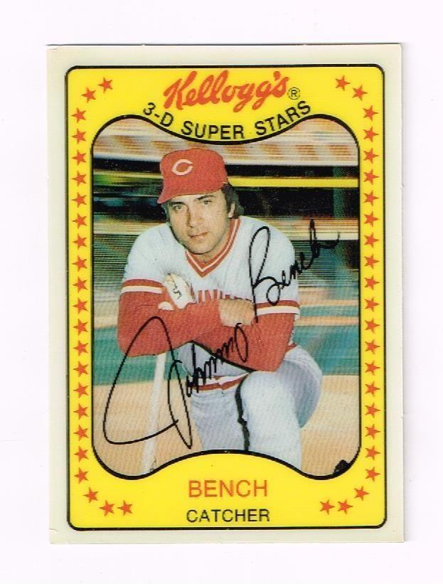 Johnny Bench Beautiful 1981 Kelloggs 3 D Baseball Card 65