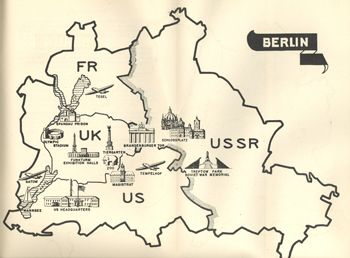 Illustrated Map Of Divided Berlin July Art Pinterest - Map of divided berlin