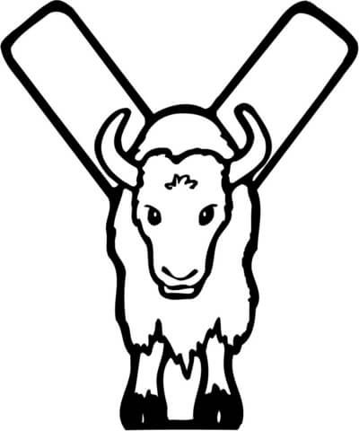 Letter Y Is For Yak Coloring Page From Learn English Alphabet Quot Letter Is For Quot Set I Categor Coloring Pages Alphabet Coloring Pages Abc Coloring Pages