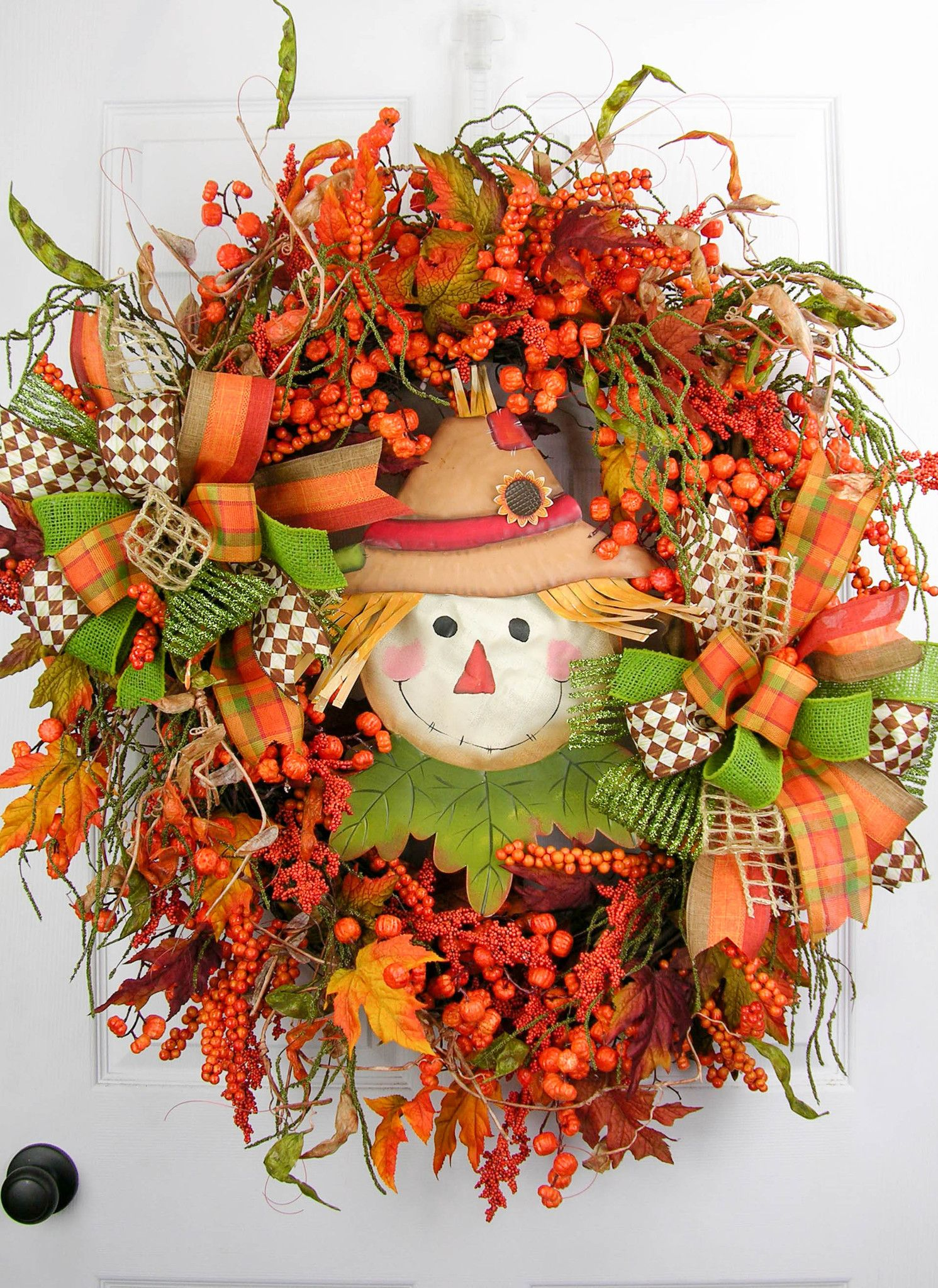 From Our Designer Series And Full Of Pumpkin Stems And Berries With Twisting Vines Fall Leaves And Dried B Fall Thanksgiving Wreaths Fall Wreaths Fall Wreath