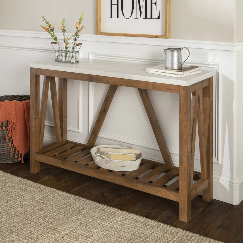 Offerman 52 Console Table In 2020 Entry Console Table Rustic Console Tables Oak Console Table