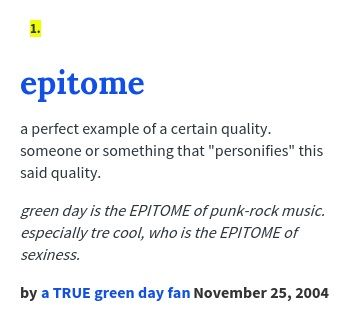 Epitome Definition   Google Search