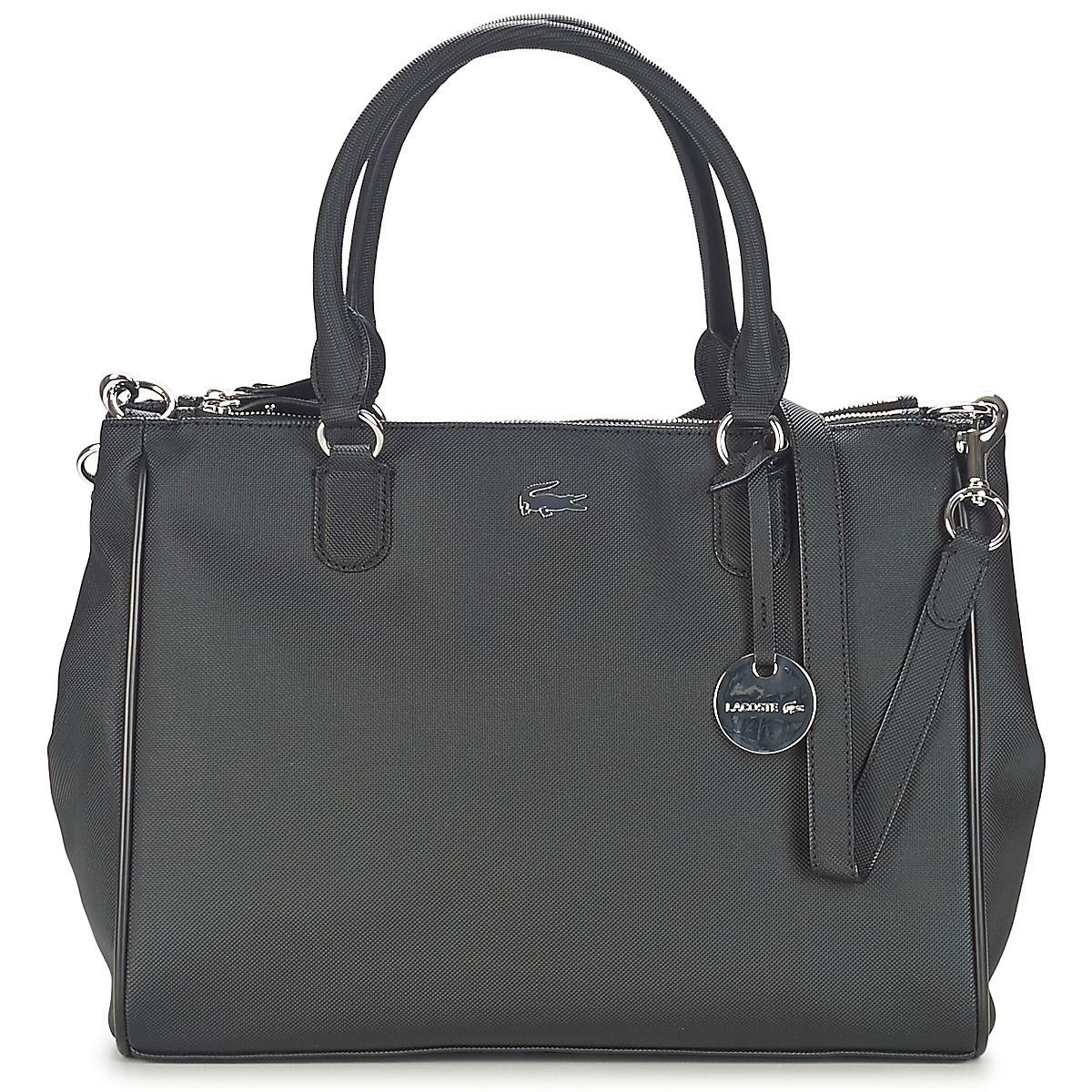 50f0ac774f Sac porté épaule Lacoste DAILY CLASSIC Noir prix promo Sacs Spartoo 205.00 €