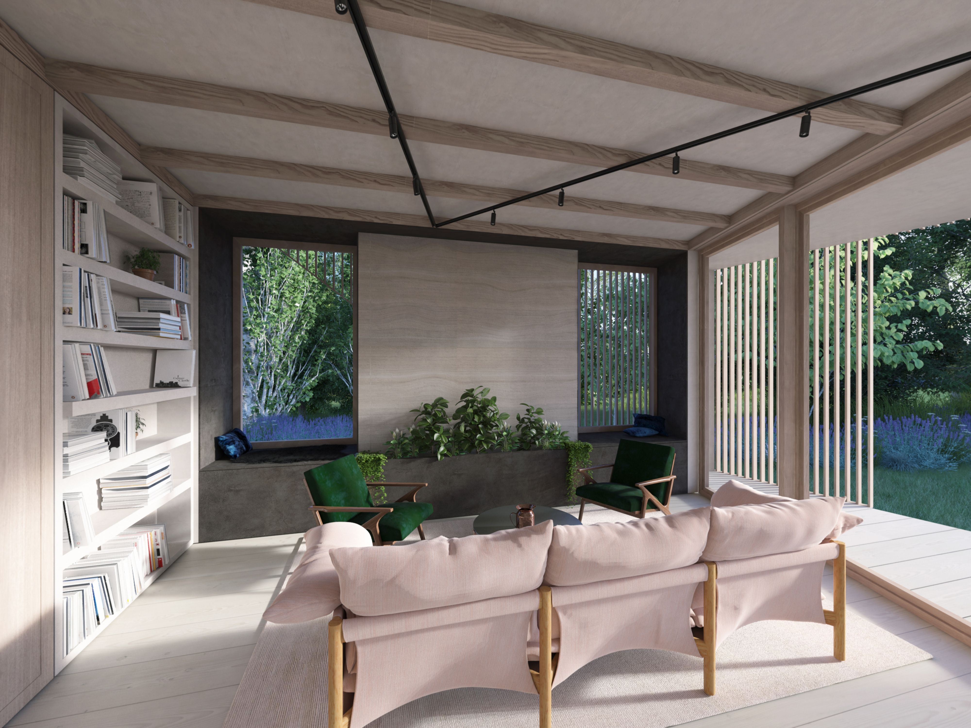 Ekkist ori house blueprint flexible open plan living area which can ekkist ori house blueprint flexible open plan living area which can be enclosed with sliding timber partitions when required full height shelving and a malvernweather Gallery