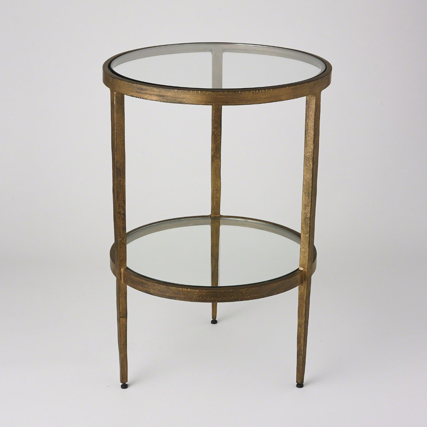 Laforge Two Tiered Side Table Antique Gold Side Table Modern End Tables Accent Table