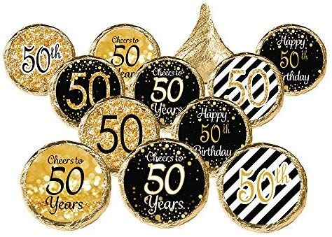 Amazon 50th Birthday Party Favor Stickers