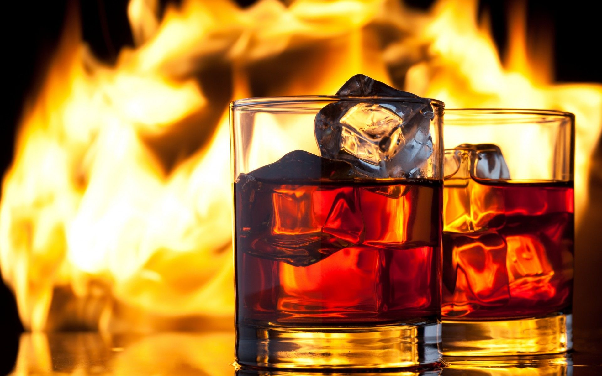 Whiskey Drink Ice Glasses Fire Flame Alchohol Wallpaper 1920x1200 48228 Wallpaperup Whiskey Drinks Whisky Whisky Drinks