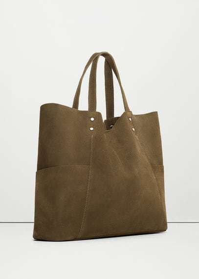 69b5f7a01 Leather shopper bag - Women | Off Days Outfits | Shopper bag, Bags ...