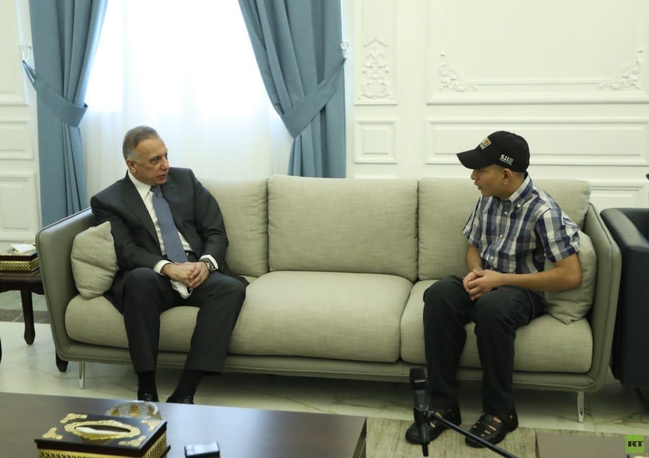الكاظمي يستقبل الحدث حامد الذي تعرض للتعذيب على يد عناصر أمن صور روسيا اليوم Decor Furniture