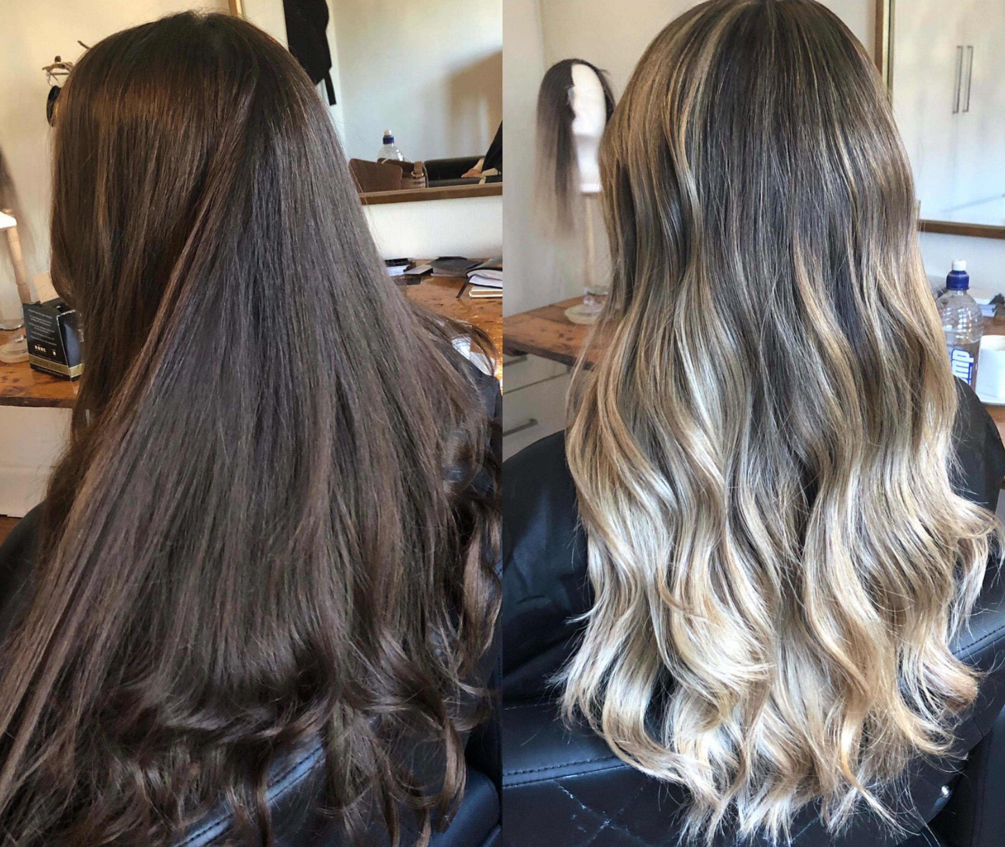 Balayage Makeover Brown Blonde Hair Brown To Blonde Ombre Hair Honey Brown Hair