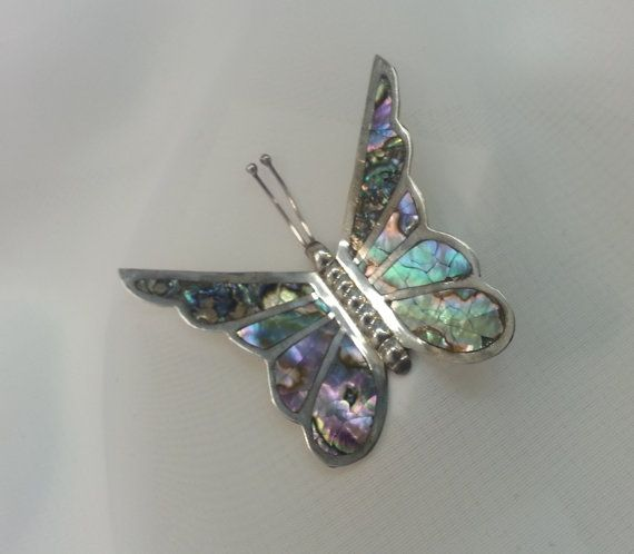 Vintage Butterfly Brooch Large Sterling Silver by TracyBDesignsAZ, $59.00