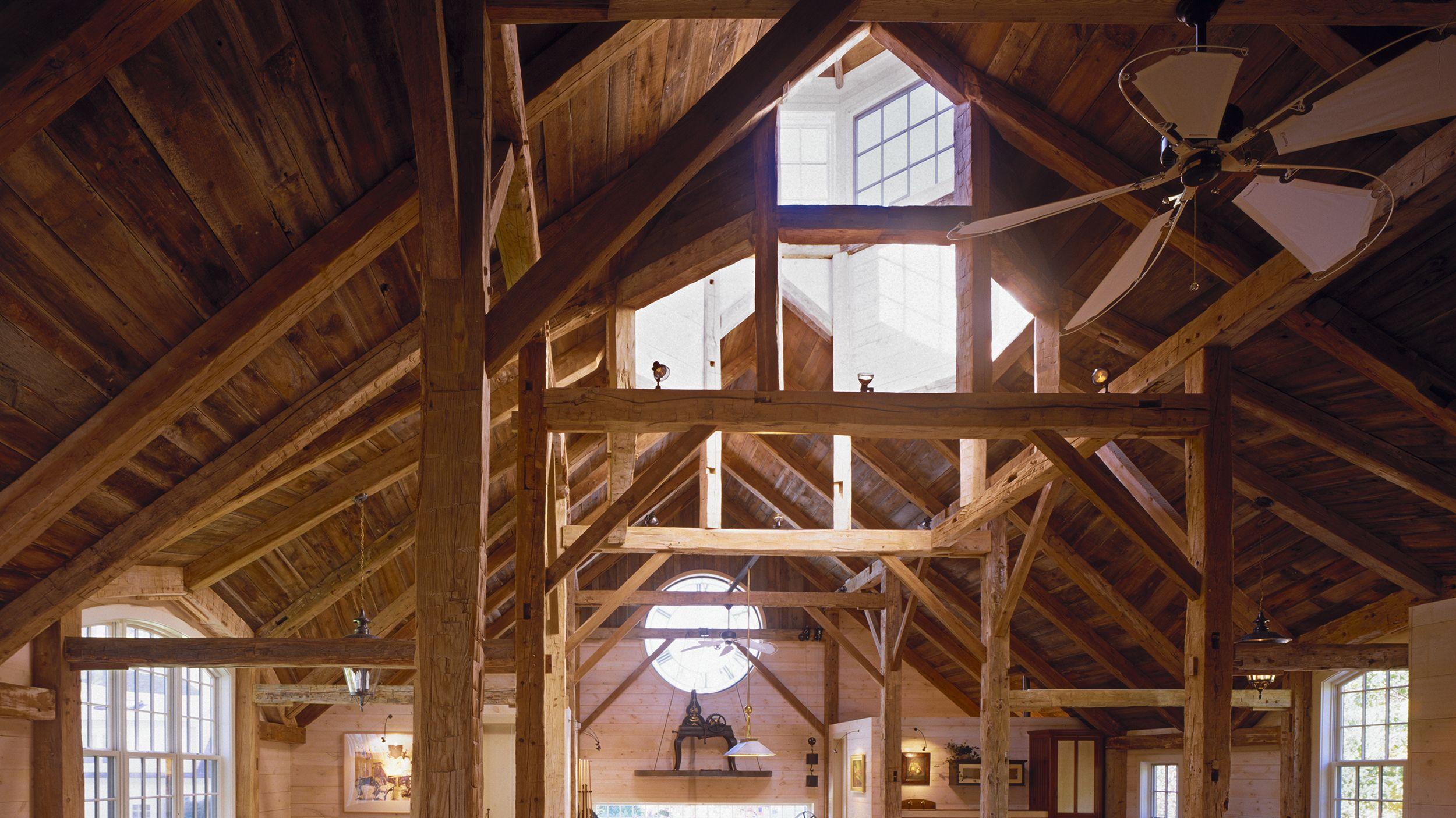 Exposed Beams | Cupola | The Clock Barn by DSK | Dewing Schmid Kearns