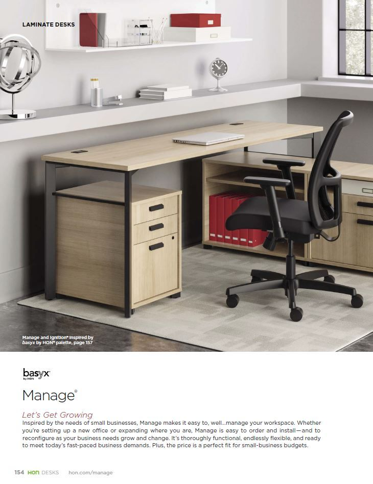 basyx by hon manage laminate desking www insidesource com wood