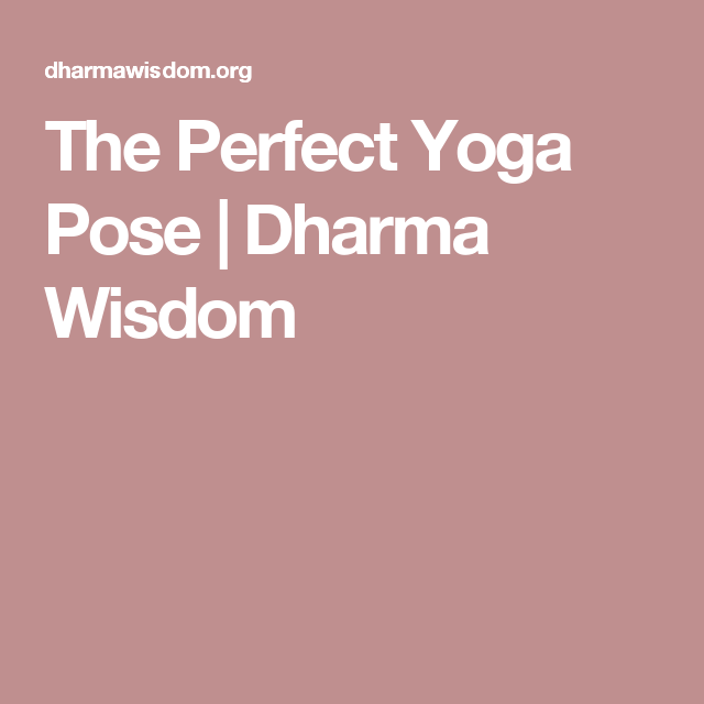 The Perfect Yoga Pose | Dharma Wisdom | yoga college | Pinterest ...