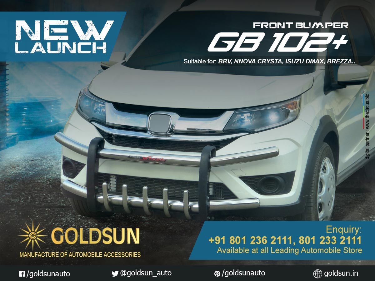 Goldsun Introduces Strong And Stylish Front Bumper Gb 102 For The All New Honda Br V Toyota Innova Crysta Maruti S Toyota Innova Nissan Terrano Isuzu D Max [ 900 x 1200 Pixel ]