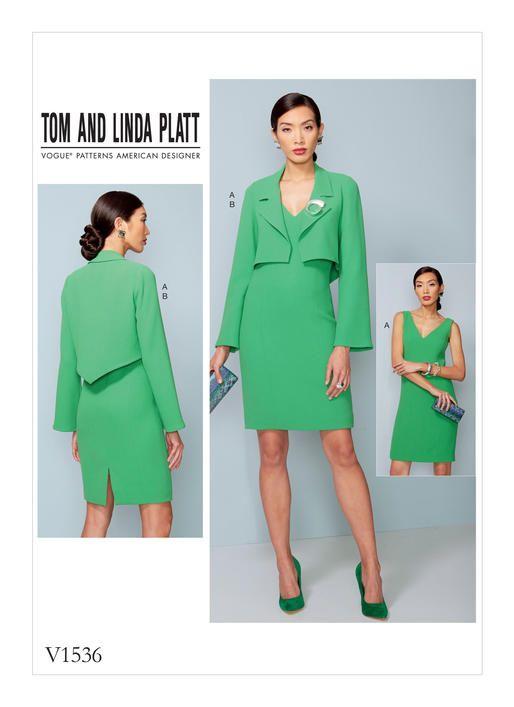 Tom and Linda Platt for Vogue Patterns. V1536 MISSES\'/MISSES\' PETITE ...