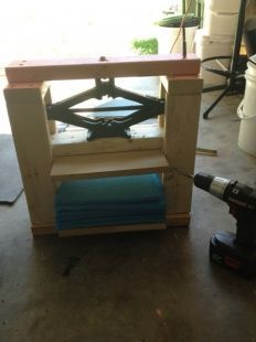 Kydex Press 2 Kydex Press Made With Scrap Wood A Clearance 2x4 And