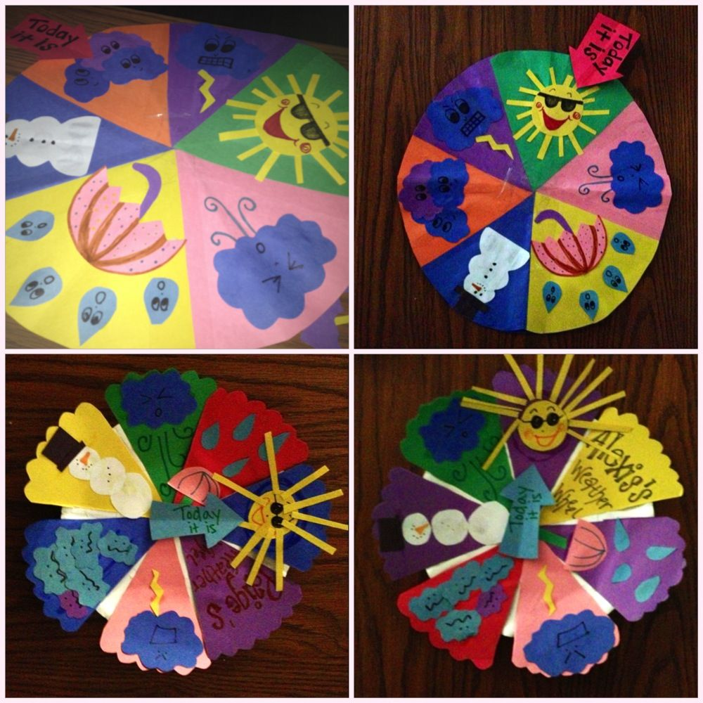 weather wheels to help teach the different types of weather the