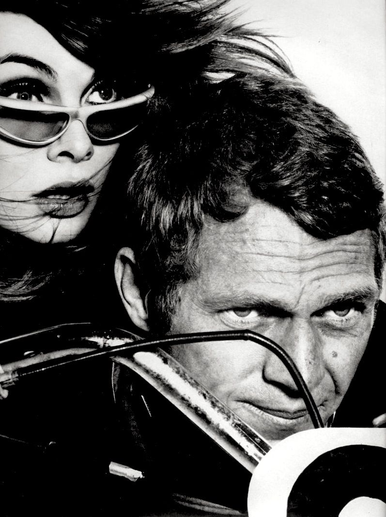 by Richard Avedon : Jean Shrimpton & Steve McQueen, Harper's Bazaar magazine, February, 1965