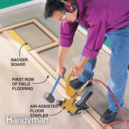 How To Lay Hardwood Floor With A Contrasting Border Wood Flooring