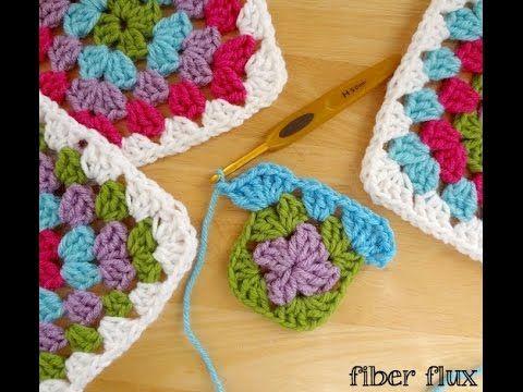 Fiber Flux How To Make A Granny Square Photo Video Tutorial Granny Square Crochet Pattern Granny Square Crochet Granny Square