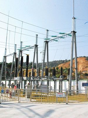 115kv Step Up Switchyard Structure Substation Gantry Substation