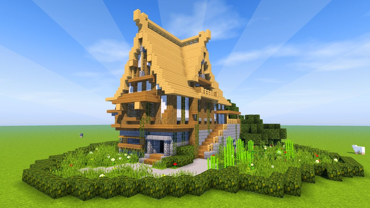 Minecraft Tutorial How to build a BIG survival house