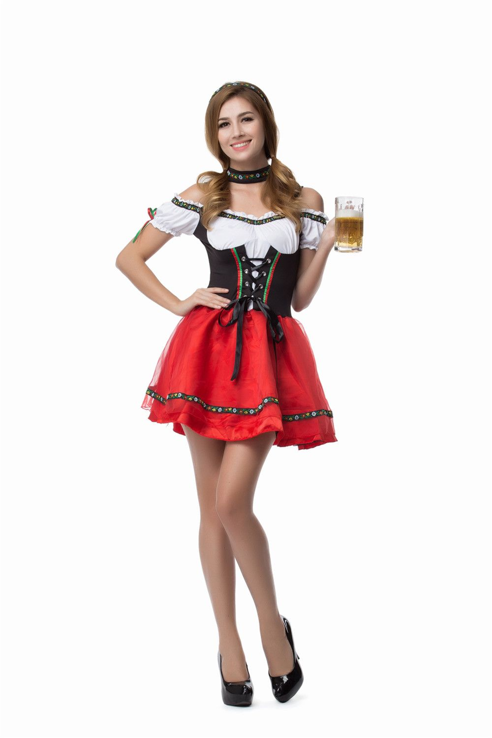8864ba7d50113 Vocole German Oktoberfest Sexy Beer Girl Costume Bavarian Women ...