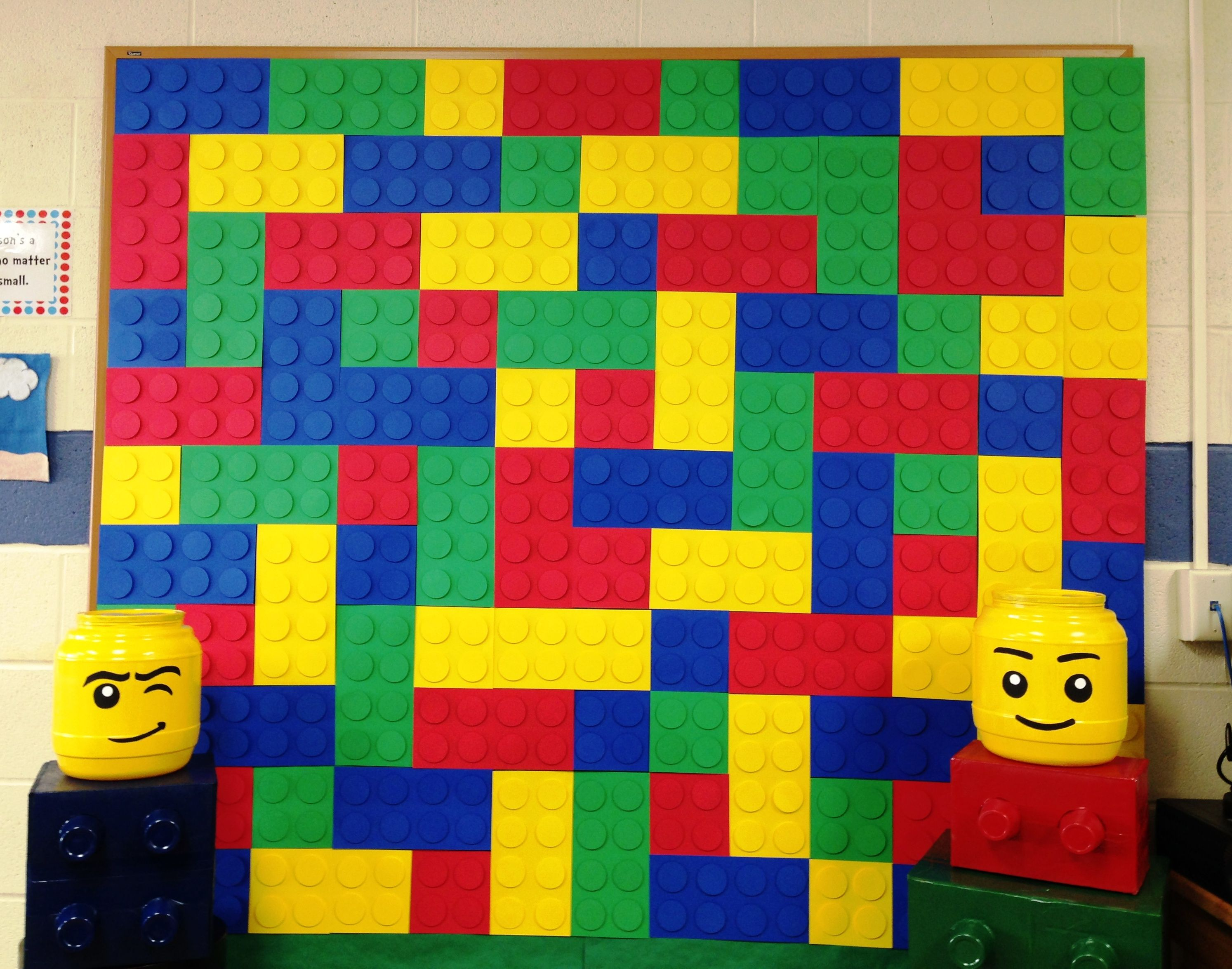 Lego Photo Booth Background So Easy But So Cute Lego Birthday Party Lego Birthday Lego Party