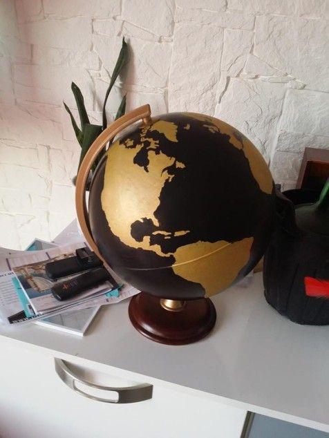 urne globe terrestre monde or et noir mariage d co pinterest globe urne et diy. Black Bedroom Furniture Sets. Home Design Ideas