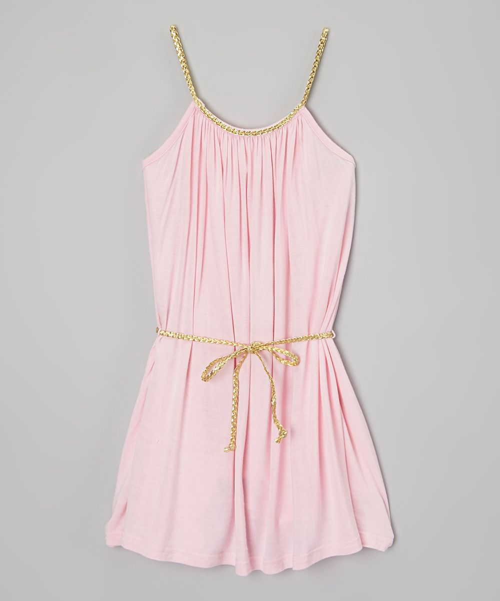 Pink and gold dress for kids  Belted Dress   little girlus clothes   Pinterest