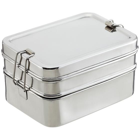 Stainless Steel Rectangular 3-in-1 ECOlunchbox | Stainless steel ...