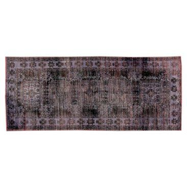 """Check out this item at One Kings Lane! Purple Overdyed Rug, 4'4"""" x 10'6"""""""