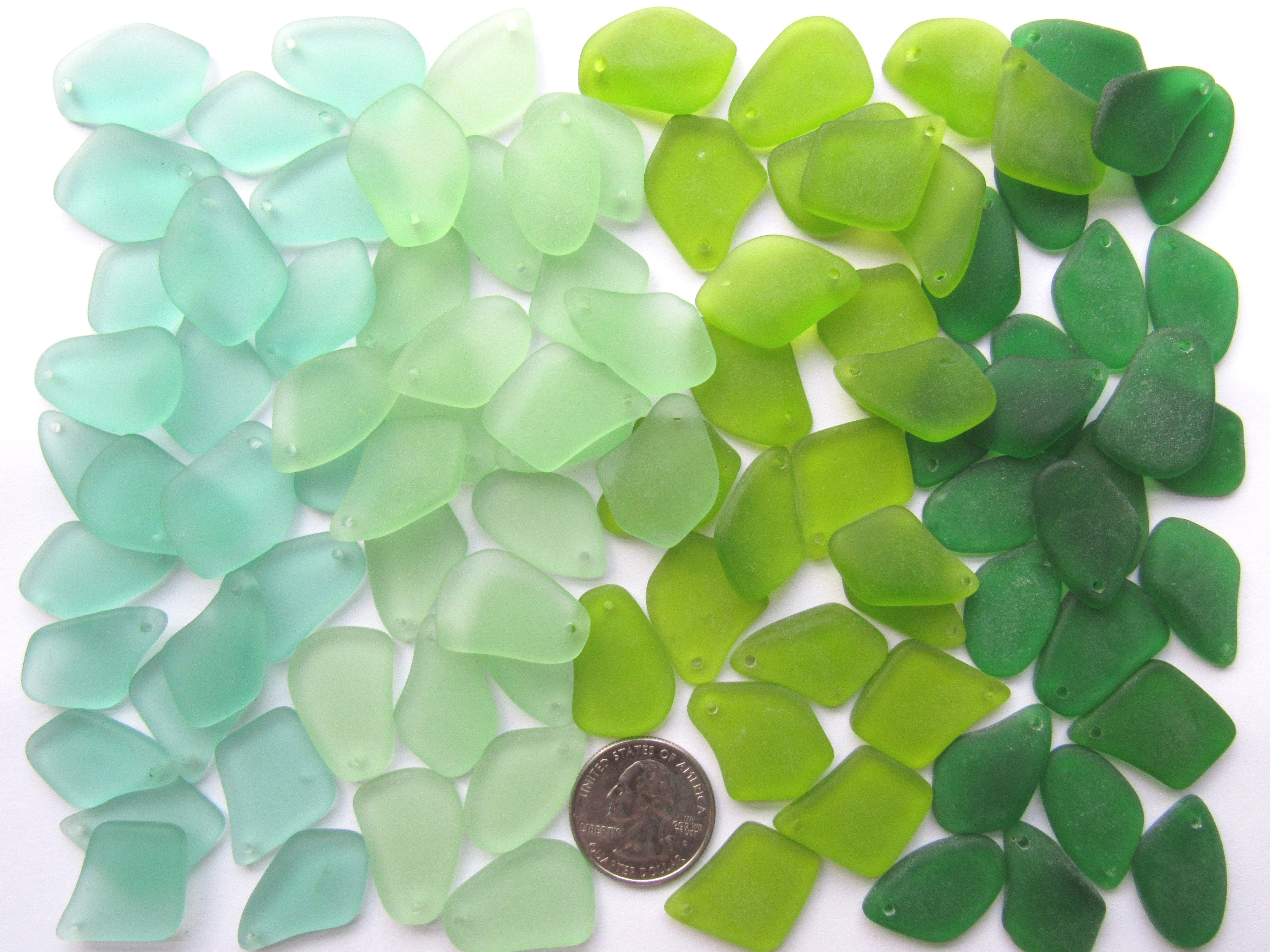 Bead Supply Cultured Sea Glass BEADS 18x6mm Teardrop length drilled frosted assorted strands for making jewelry