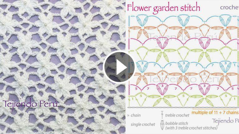 Garden Flower Stitch Crochet Pattern Tutorial | Crochet | Pinterest ...
