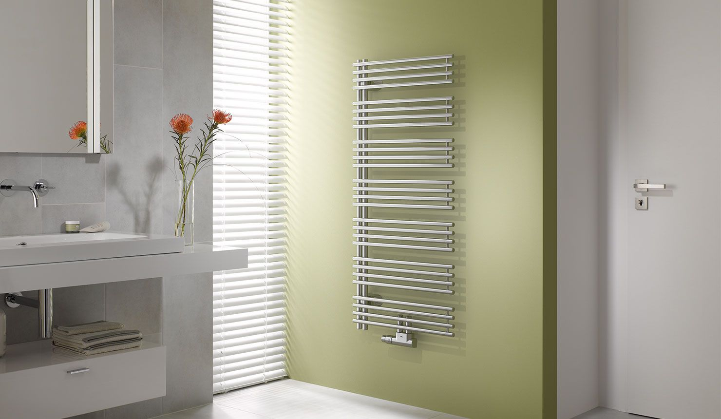Badezimmer Heizkörper ~ Kermi diveo design und badheizkörper in modernem badezimmer