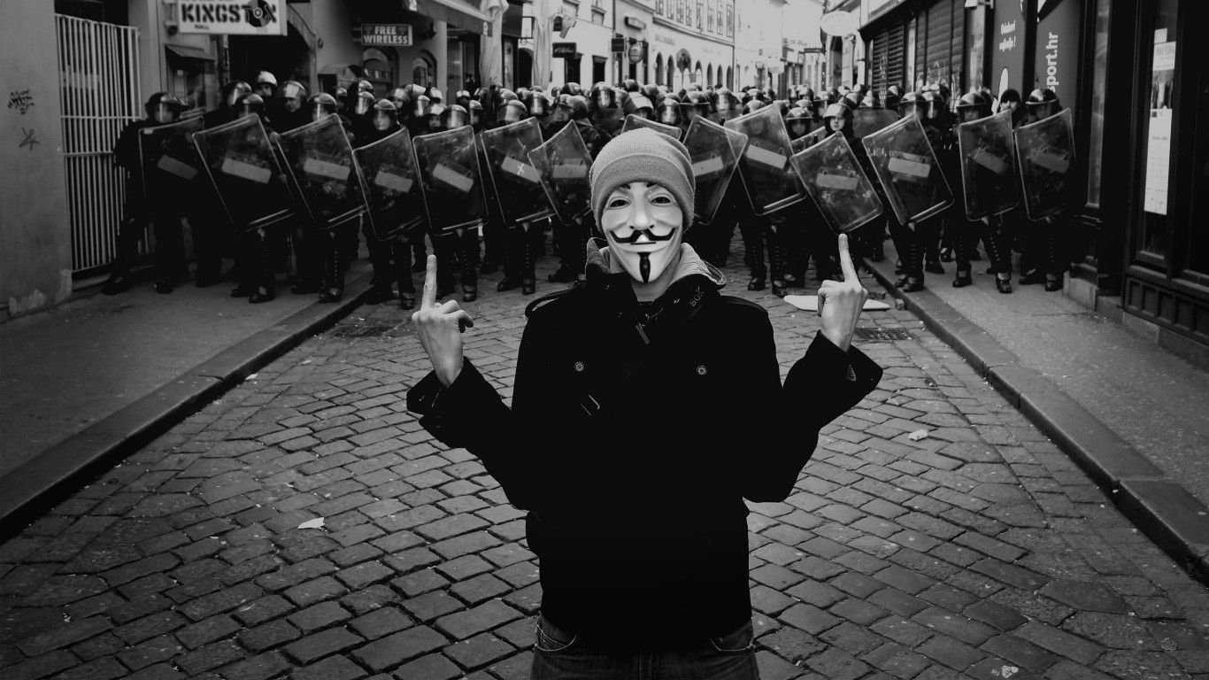 anonymous police fuck off grayscale middle finger photomanipulations