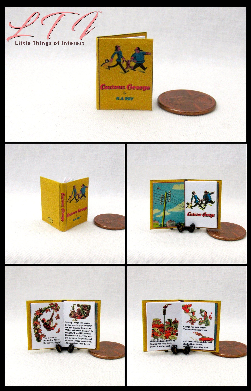 PINOCCHIO Miniature Book Readable Illustrated Dollhouse 1:12 Scale Book