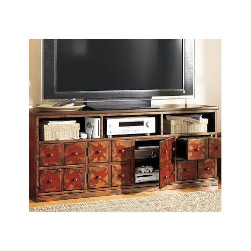 Andover Media Console: Pottery Barn Red Tv Consoles, Andover Collection