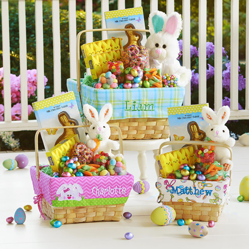 Personalized Easter Gift Basket: We-Care.com will donate a portion of every purchase through this link to charity!