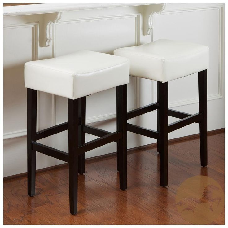 amazon  best selling lopez backless leather counter stool