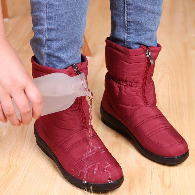 1fbe8df4a51a6 Botas de nieve 2016 de Invierno de la marca caliente antideslizante algodón  otoño invierno botas impermeables botas de mujer zapatos de la madre  ocasional ...