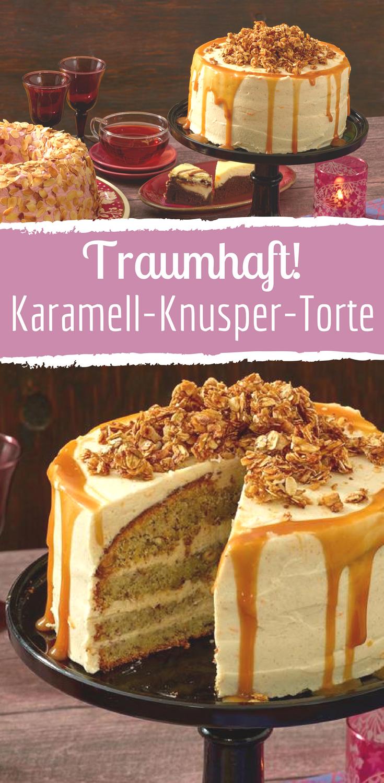 Traumhaft leckere Karamell-Knusper-Torte! Ein Rezept für echte Genießer. #bananapie